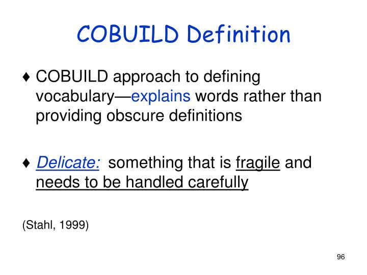 COBUILD Definition