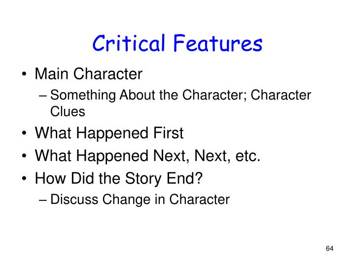 Critical Features