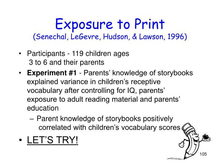 Exposure to Print