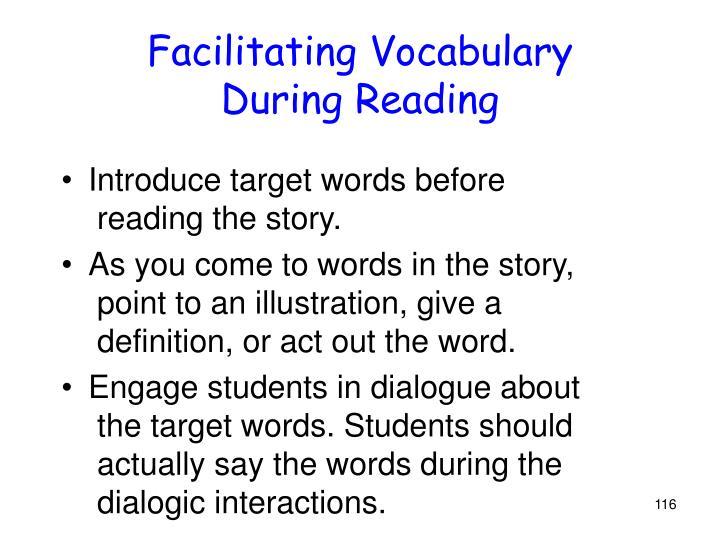 Facilitating Vocabulary