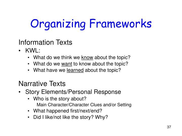 Organizing Frameworks