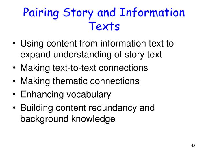 Pairing Story and Information Texts