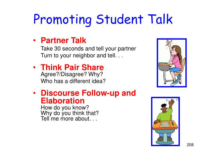 Promoting Student Talk