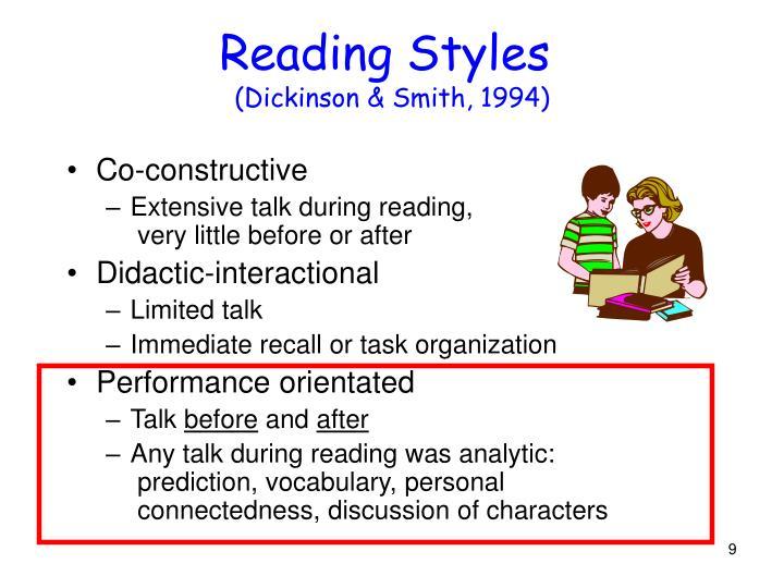 Reading Styles