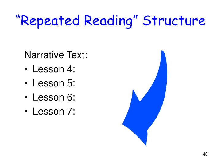 """Repeated Reading"" Structure"