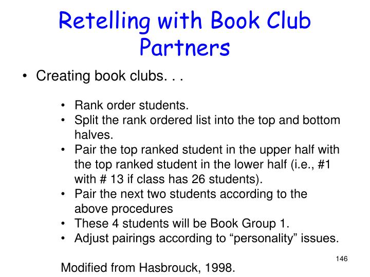 Retelling with Book Club Partners