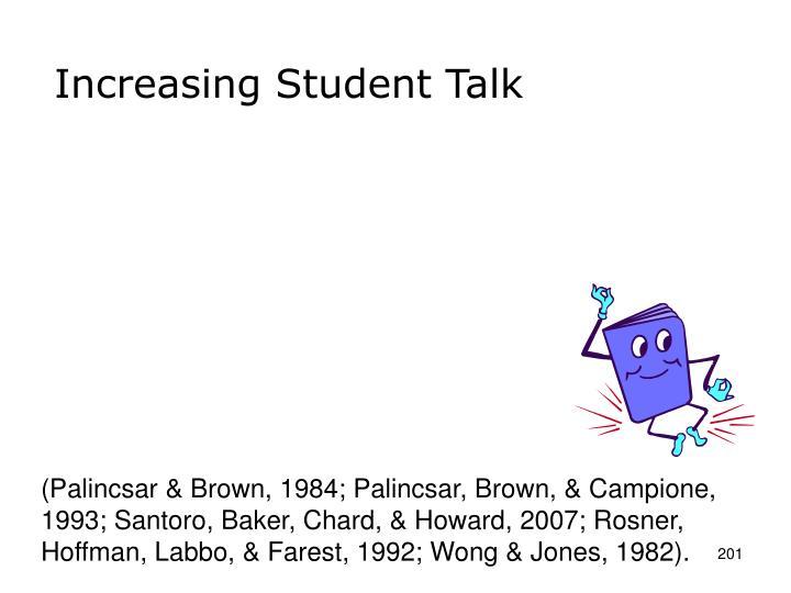 Increasing Student Talk