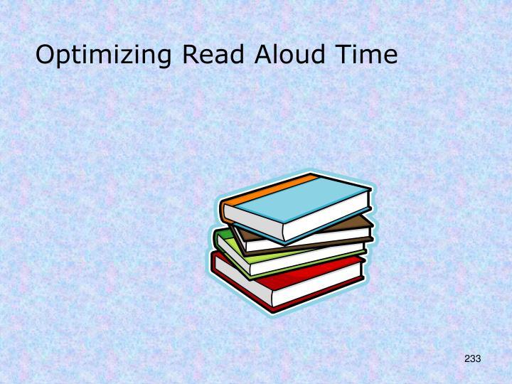 Optimizing Read Aloud Time