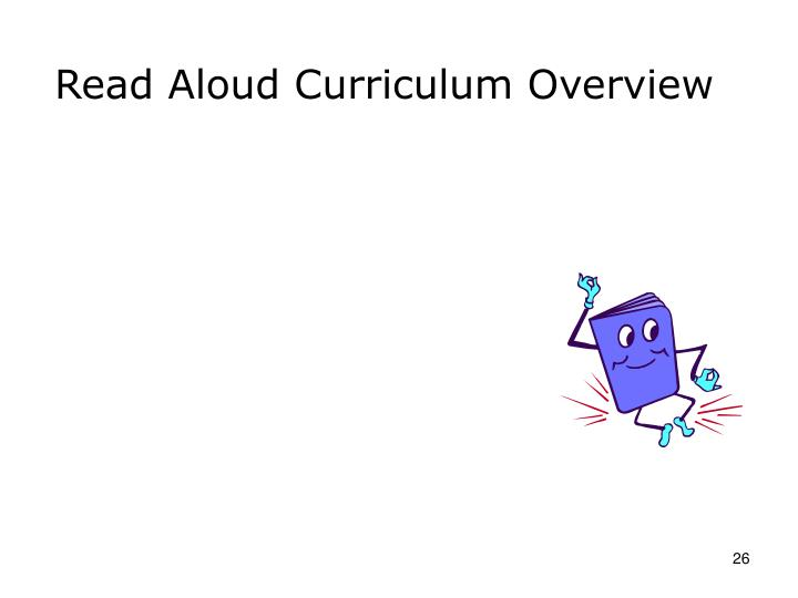 Read Aloud Curriculum Overview