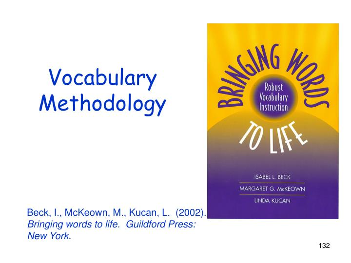 Vocabulary Methodology