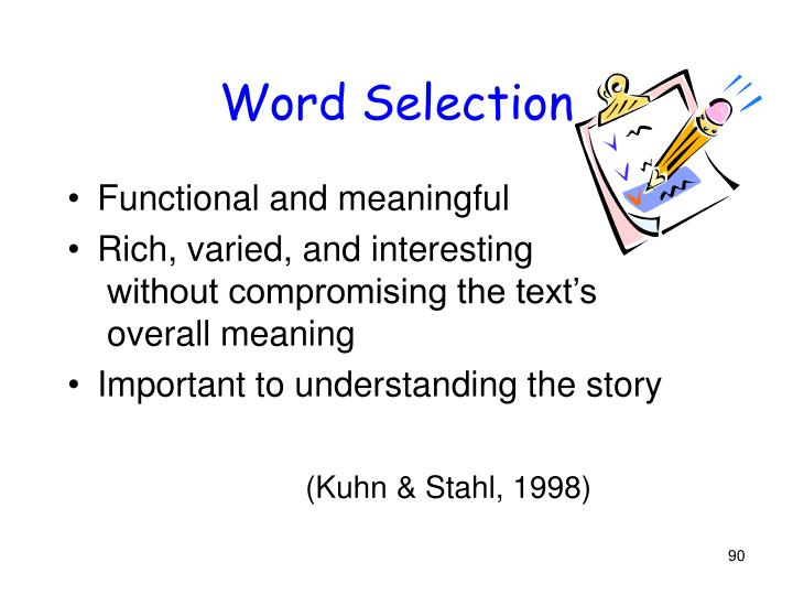 Word Selection