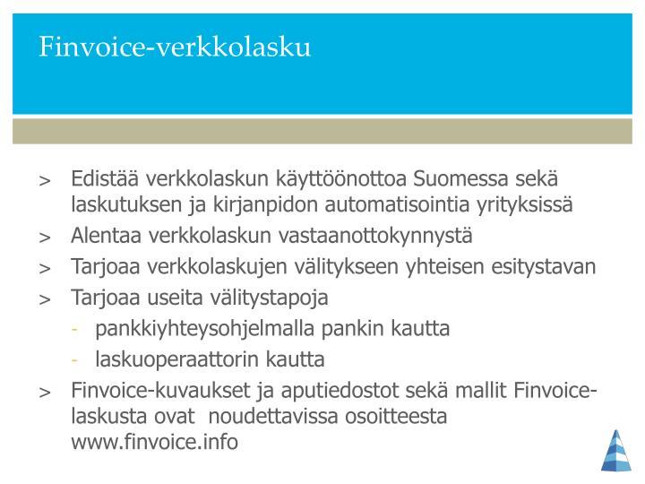 Finvoice-verkkolasku