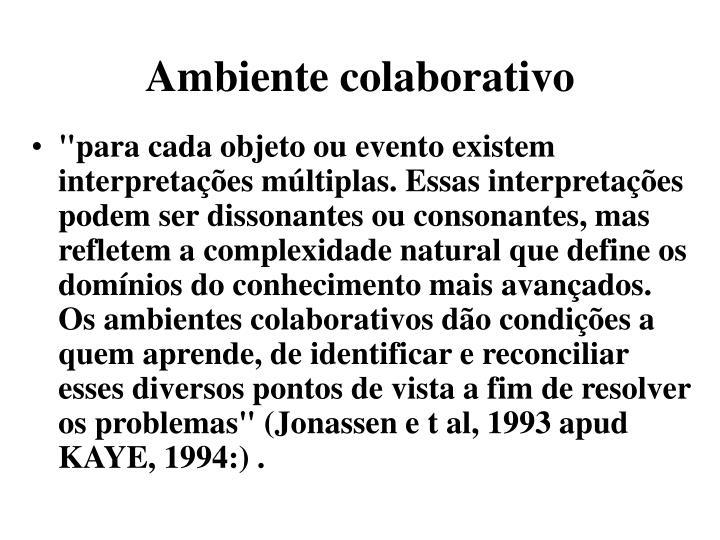 Ambiente colaborativo