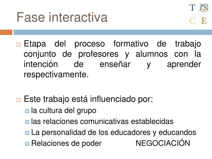 Fase interactiva