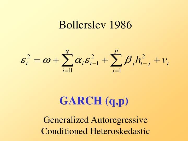 Bollerslev 1986