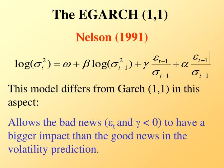 The EGARCH (1,1)