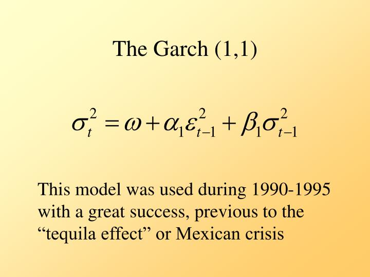 The Garch (1,1)