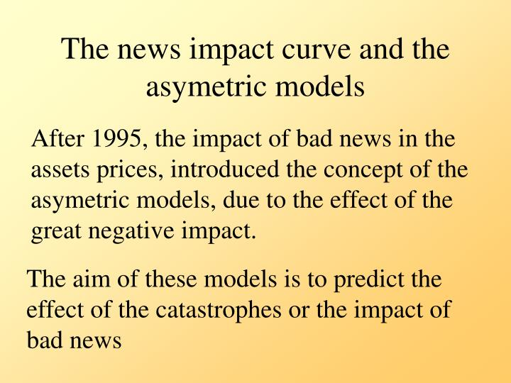 The news impact curve and the asymetric models