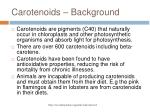 carotenoids background