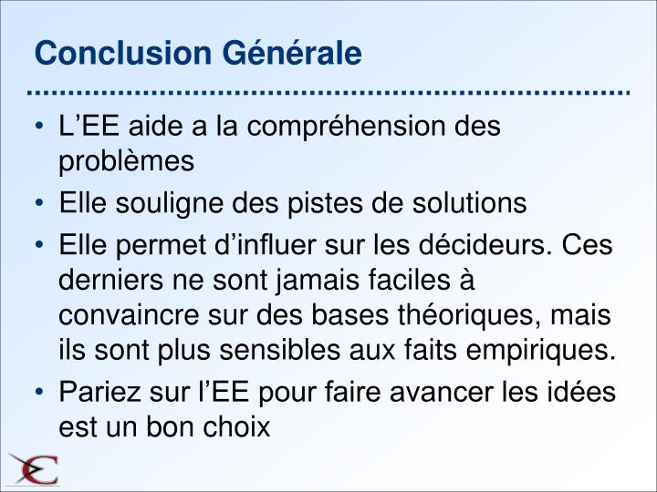 Conclusion Générale