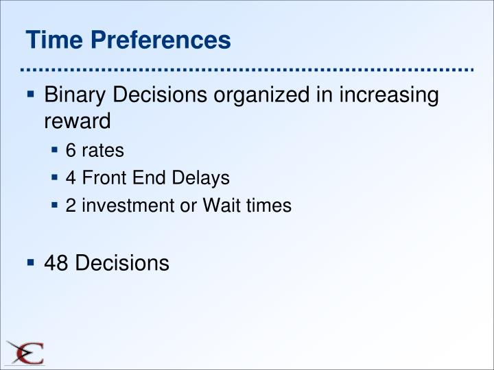 Time Preferences