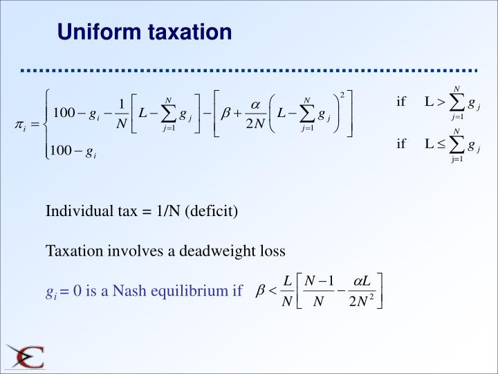 Uniform taxation