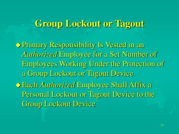 Group Lockout or Tagout