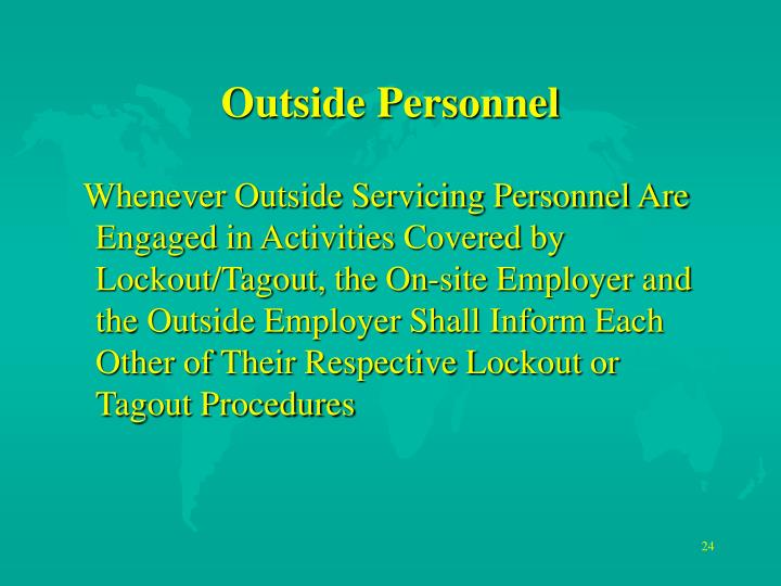 Outside Personnel