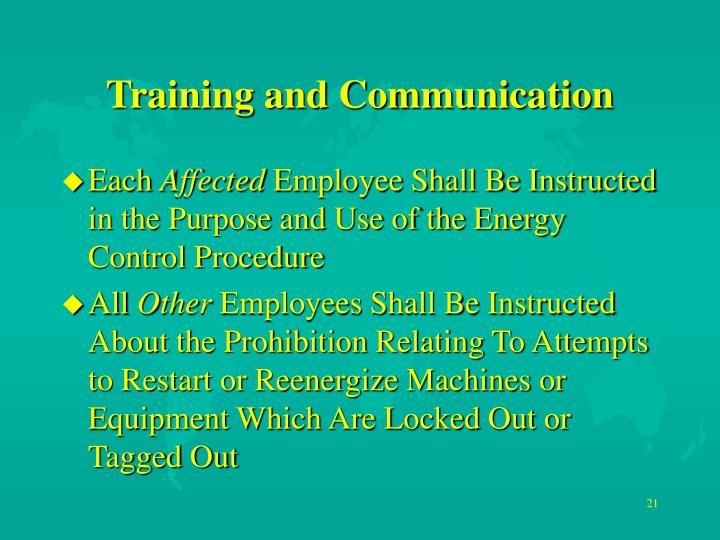 Training and Communication