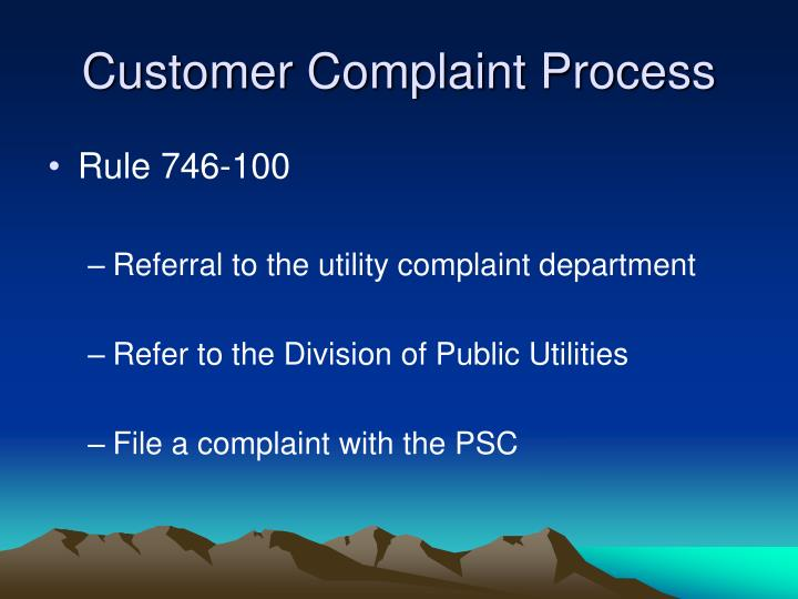 Customer Complaint Process