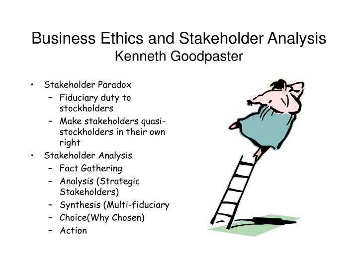 Business Ethics and Stakeholder Analysis