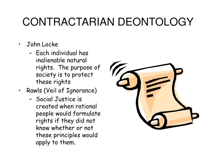 CONTRACTARIAN DEONTOLOGY