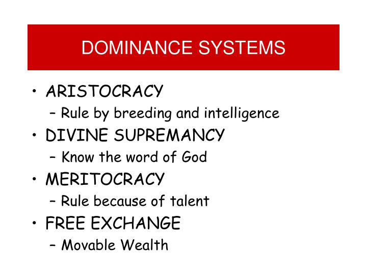 DOMINANCE SYSTEMS