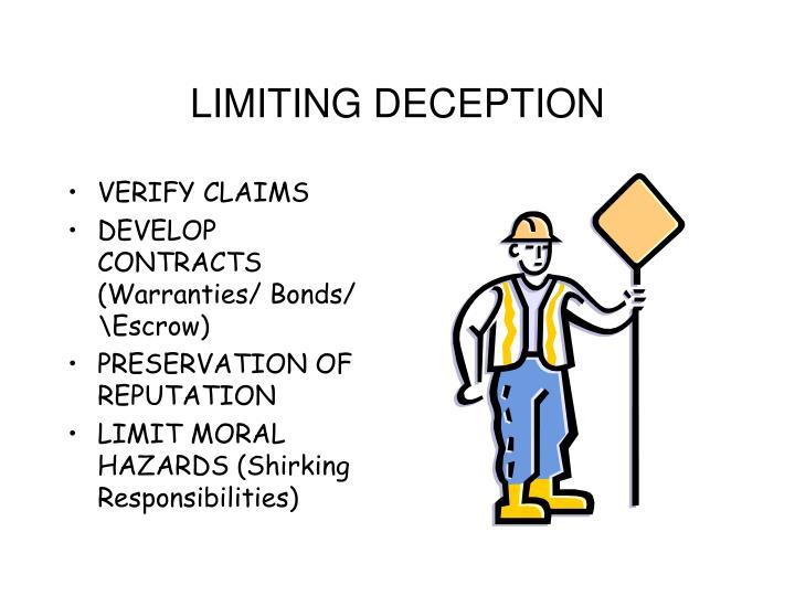 LIMITING DECEPTION