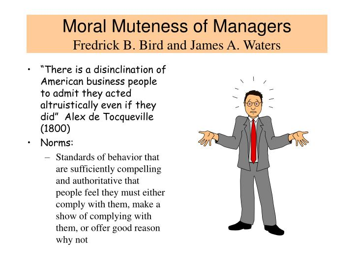 Moral Muteness of Managers
