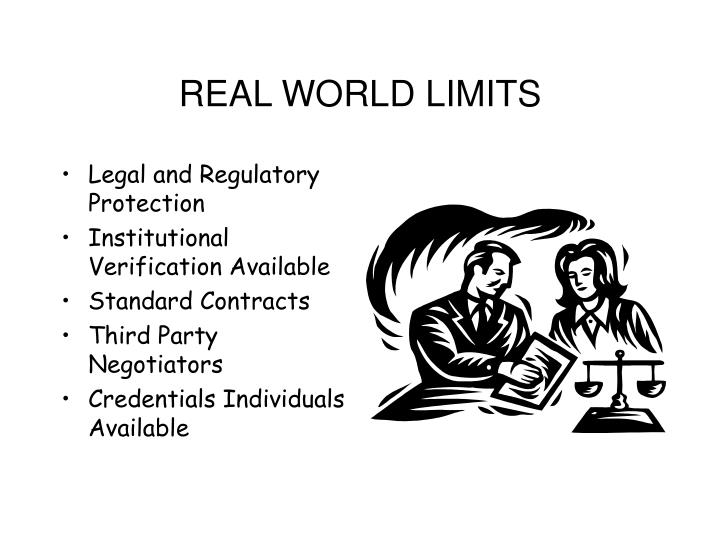 REAL WORLD LIMITS