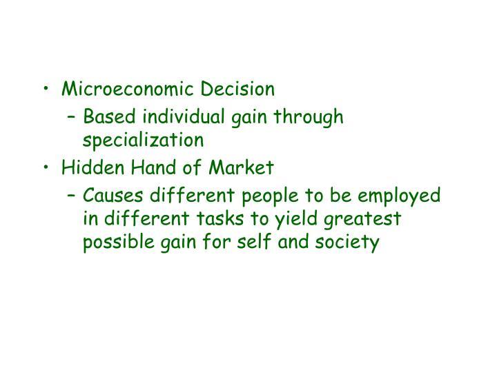 Microeconomic Decision