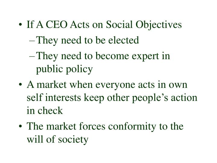 If A CEO Acts on Social Objectives