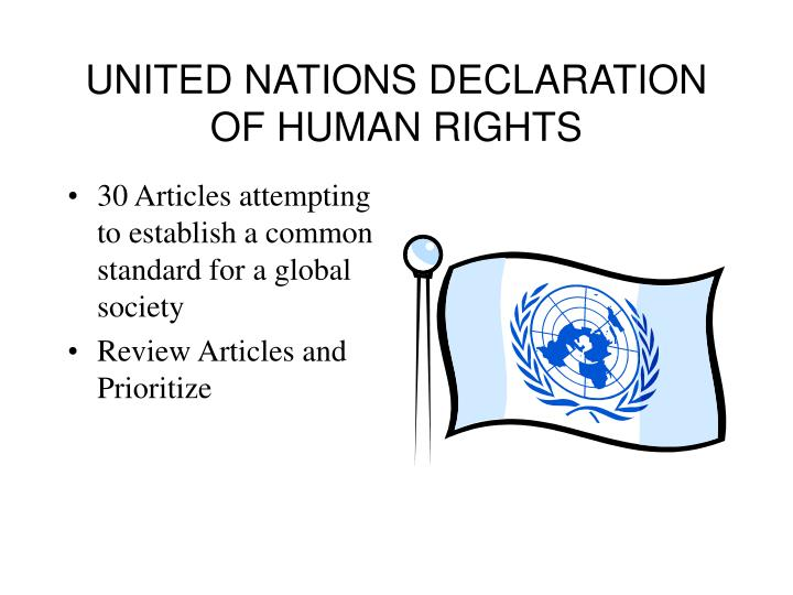 UNITED NATIONS DECLARATION OF HUMAN RIGHTS