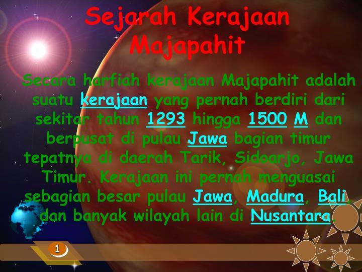 Sejarah Kerajaan Majapahit