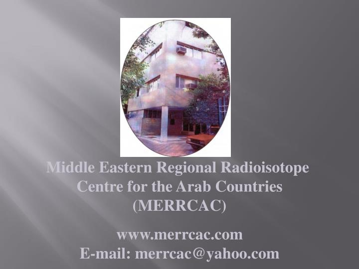 Middle Eastern Regional Radioisotope