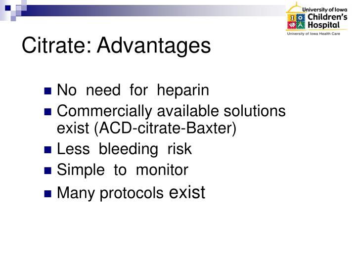 Citrate: Advantages