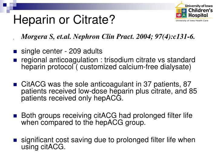 Heparin or Citrate?