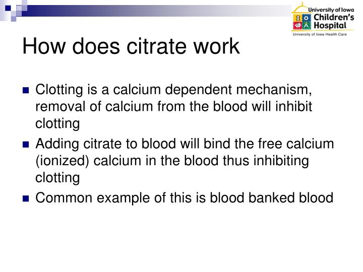 How does citrate work