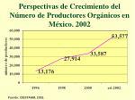 perspectivas de crecimiento del n mero de productores org nicos en m xico 2002