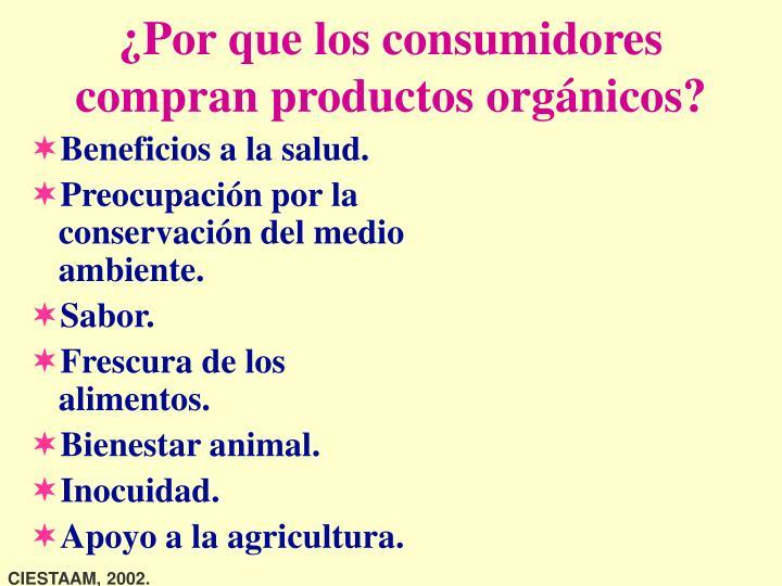 ¿Por que los consumidores compran productos orgánicos?