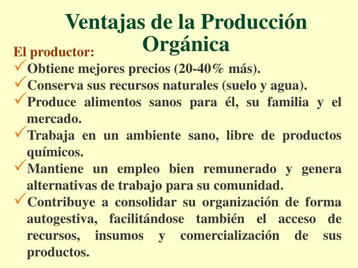 Ventajas de la Producción Orgánica