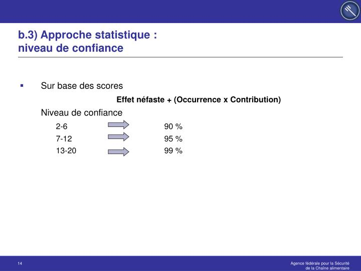 b.3) Approche statistique :