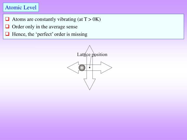Atomic Level