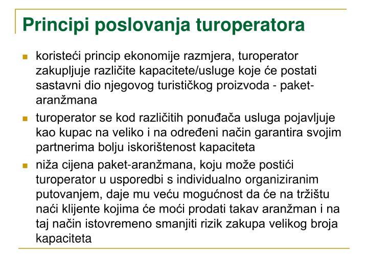 Principi poslovanja turoperatora